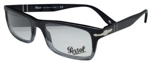 Persol New PERSOL Rx-able Eyeglasses 3050-V 966 53-18 Black Gradient Smoke Frame