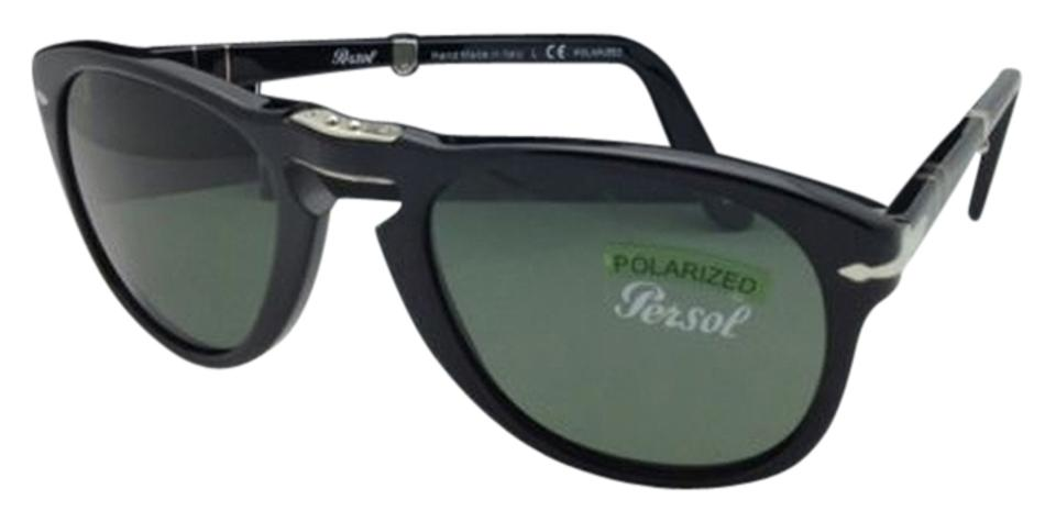 34eeb20108a Persol New Polarized PERSOL Folding Sunglasses 714 95 58 54-21 Black Frame  w ...
