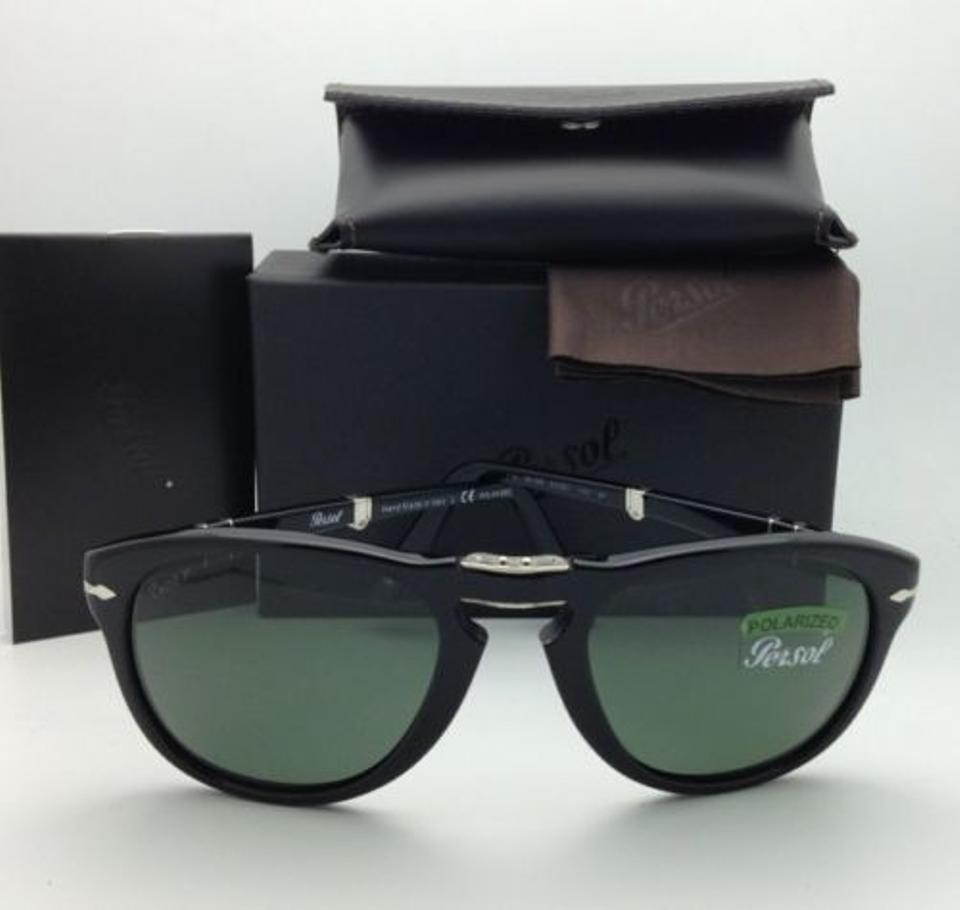 67aac54d73 Persol 714 95 58 54-21 Polarized Grey-green Lenses New Folding 95 58 Black  Frame W  Sunglasses - Tradesy