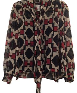 Diane von Furstenberg Top Red/ white/ black