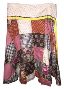 Free People Patchwork Skirt multi