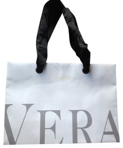 Vera Wang Vera Wang paper shopping gift bag white