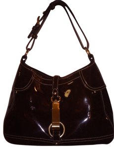 Ann Taylor Patent Leather Hobo Bag