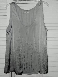 Gap Sleeveless Dressy Washable Top shimmery silver