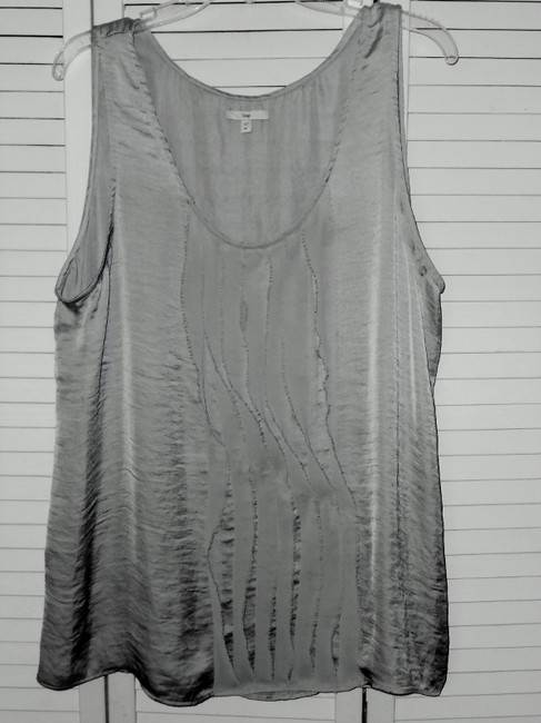 Gap Sleeveless Dressy Washable Holiday Evening Top shimmery silver