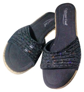 Coldwater Creek black Wedges
