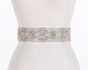 Brand New Swarovski Crystal Beaded Designer Bridal Sash