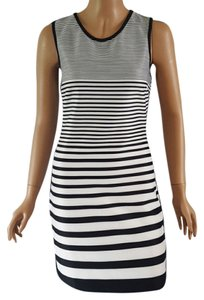 Romeo & Juliet Couture short dress Black and White Striped on Tradesy