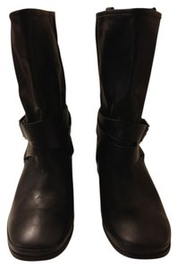 Belle by Sigerson Morrison Biker Boot Leather Black Boots