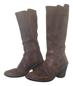 Camper Distressed Brown Leather Boots