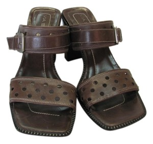 Via Spiga Leather Size 10.00 M Very Good Condition Brown Sandals
