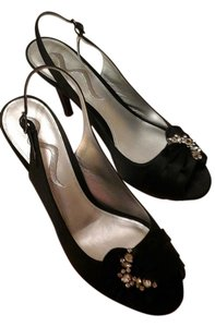 Nina Shoes Dressy Classic Satin Night Out Black Formal