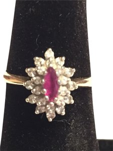 Other Vintage Ruby and Diamond Ring
