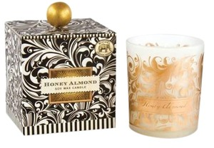 Michel Design Works Black Florentine Large Soy Candle 14oz - Scent: Honey Almond (Brand New)