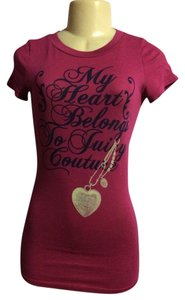 Juicy Couture Logo Petite Short Sleeves T Shirt