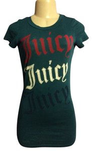 Juicy Couture Petite Logo Glitter T Shirt Blue