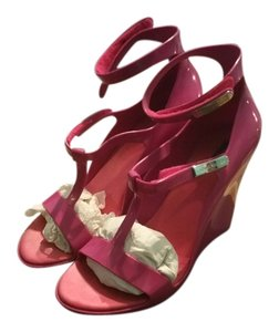 Louis Vuitton Fushia pink Wedges