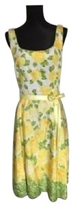 B. Smart short dress yellow green white floral print Summer Flowers Cotton on Tradesy