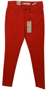 Levi's Red Cotton Skinny Jeans Pants