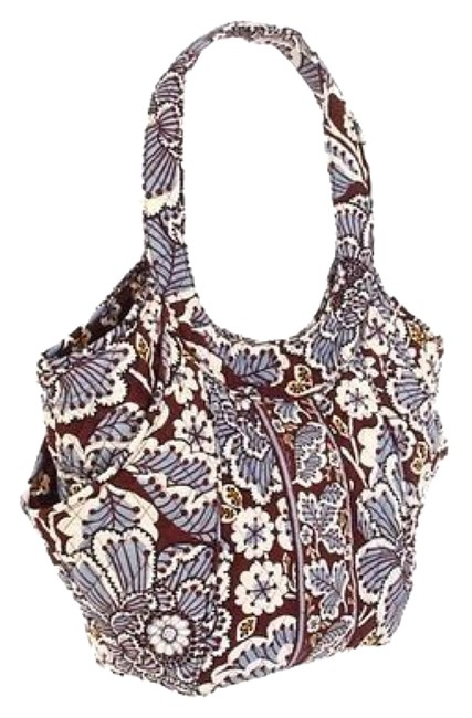 Item - Side By Side Slate Blooms Cotton Tote
