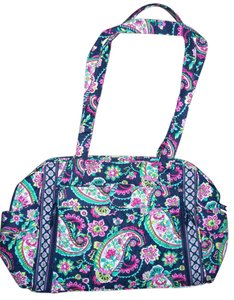 Vera Bradley Black Make A Nwt Changie Petal Paisley Navy Blue Pink Diaper Bag