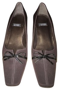 Stuart Weitzman Satin Evening Leather Brown Formal