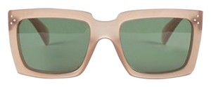 Céline NEW CELINE Blush Rectangle Frame 'Graphic' Sunglasses