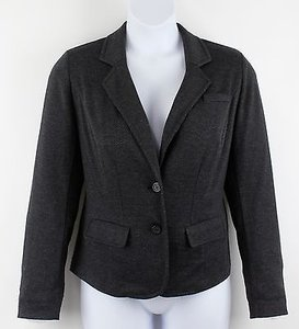 Lane Bryant Lane Bryant Charcoal Black 2-button Unlined Blazer B46