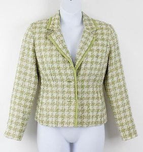 Requirements Requirements Lime White Multi Textured 2-button Blazer B46