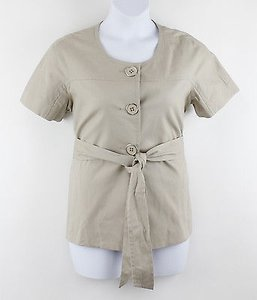 Apostrophe Simply Taupe Button Ss Belted B46 Jacket