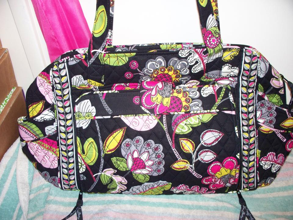 vera bradley moon blooms black floral cotton make a change changing pad diaper bag tradesy. Black Bedroom Furniture Sets. Home Design Ideas