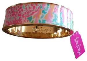 Lilly Pulitzer NWT Lilly Pulitzer Turquoise Let's Cha Cha Boca Bangle Bracelet