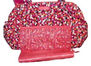 Vera Bradley Black Stroll Around Confetti Dots - pink orange Diaper Bag