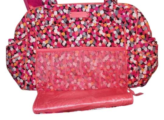 vera bradley stroll around changing pad confetti dots pink orange diaper bag on sale 33 off. Black Bedroom Furniture Sets. Home Design Ideas