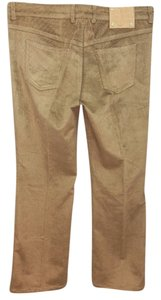 Escada Brown Corduroy Straight Pants