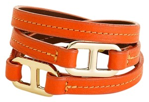 Tory Burch Tory Burch Plato Wrap Around Leather Bracelet