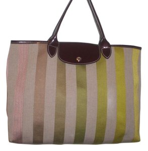Longchamp Large Tote Tote in multi color