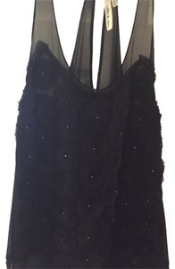 Robbi & Nikki by Robert Rodriguez Sheer Night Out Silk Top Black