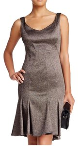 Zac Posen Cocktail Fluted Sheath Structured Dress