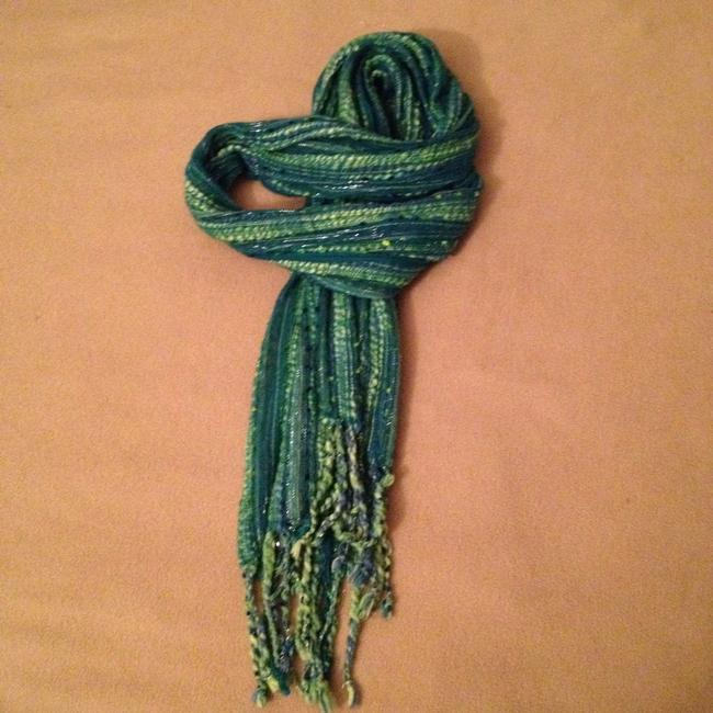 Item - Green Lime Traditional Knit Scarf/Wrap