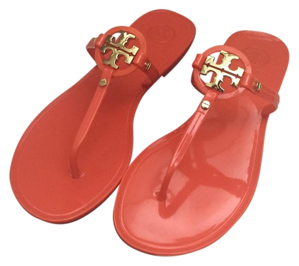 Tory Burch Poppy Thong Coral Mini Miller Jelly Thong Poppy Sandals 4d8694