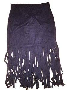 H&M Fringe Skirt black