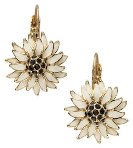 Kate Spade Kate Spade Black Eyed Susan Derby Day / Preakness Earrings NWT Perfect Leverback