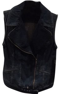 Guess Moto Cropped Jacket Vest