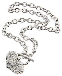 Other Clear Rhinestone Heart Pendant & Bracelet