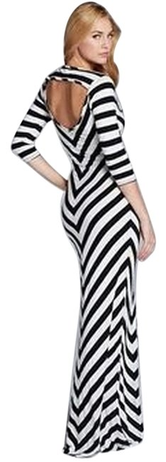 Item - Black and White Theresa Long Casual Maxi Dress Size 16 (XL, Plus 0x)