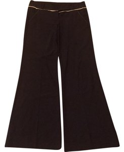 bebe Boot Cut Pants Balck and white