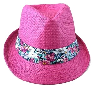 Other Pink Floral Accent Summer Hat Fedora