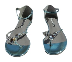 Baldan Dazzeling Luxurious Stylish Made Made In Italy Blue Sandals