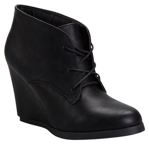 Eric Michael Wedge Black Boots